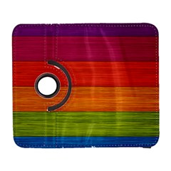 Wooden Plate Color Purple Red Orange Green Blue Galaxy S3 (flip/folio) by Mariart