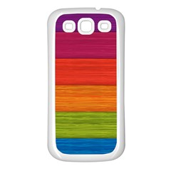 Wooden Plate Color Purple Red Orange Green Blue Samsung Galaxy S3 Back Case (white) by Mariart