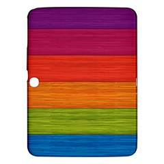 Wooden Plate Color Purple Red Orange Green Blue Samsung Galaxy Tab 3 (10 1 ) P5200 Hardshell Case  by Mariart