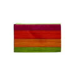Wooden Plate Color Purple Red Orange Green Blue Cosmetic Bag (xs) by Mariart