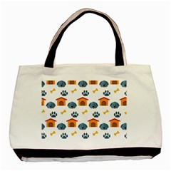 Bone House Face Dog Basic Tote Bag by Mariart