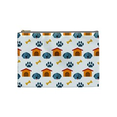 Bone House Face Dog Cosmetic Bag (medium)  by Mariart