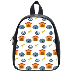 Bone House Face Dog School Bags (small)  by Mariart