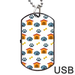 Bone House Face Dog Dog Tag Usb Flash (two Sides) by Mariart