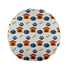 Bone House Face Dog Standard 15  Premium Flano Round Cushions by Mariart