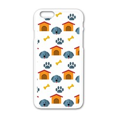 Bone House Face Dog Apple Iphone 6/6s White Enamel Case by Mariart