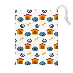 Bone House Face Dog Drawstring Pouches (extra Large) by Mariart