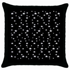Black Star Space Throw Pillow Case (black) by Mariart