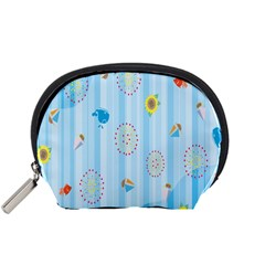 Animals Whale Sunflower Ship Flower Floral Sea Beach Blue Fish Accessory Pouches (small)  by Mariart