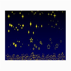 Blue Star Space Galaxy Light Night Small Glasses Cloth by Mariart