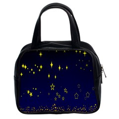 Blue Star Space Galaxy Light Night Classic Handbags (2 Sides) by Mariart