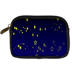 Blue Star Space Galaxy Light Night Digital Camera Cases by Mariart