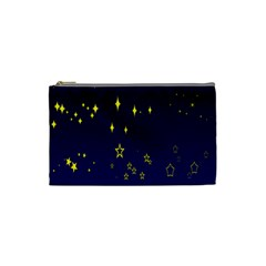 Blue Star Space Galaxy Light Night Cosmetic Bag (small)  by Mariart