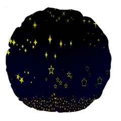 Blue Star Space Galaxy Light Night Large 18  Premium Round Cushions by Mariart