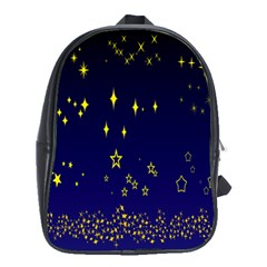 Blue Star Space Galaxy Light Night School Bags (xl)  by Mariart