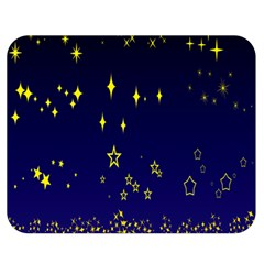 Blue Star Space Galaxy Light Night Double Sided Flano Blanket (medium)  by Mariart