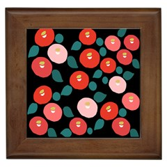 Candy Sugar Red Pink Blue Black Circle Framed Tiles by Mariart