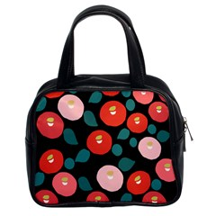 Candy Sugar Red Pink Blue Black Circle Classic Handbags (2 Sides) by Mariart