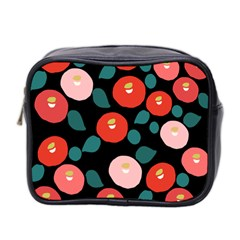 Candy Sugar Red Pink Blue Black Circle Mini Toiletries Bag 2 Side by Mariart