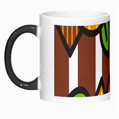 Chocolate Lime Brown Circle Line Plaid Polka Dot Orange Green White Morph Mugs by Mariart