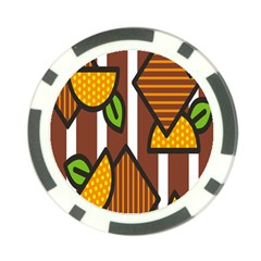Chocolate Lime Brown Circle Line Plaid Polka Dot Orange Green White Poker Chip Card Guard (10 Pack) by Mariart