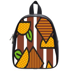 Chocolate Lime Brown Circle Line Plaid Polka Dot Orange Green White School Bags (small)  by Mariart