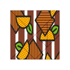 Chocolate Lime Brown Circle Line Plaid Polka Dot Orange Green White Acrylic Tangram Puzzle (4  X 4 ) by Mariart