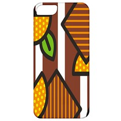 Chocolate Lime Brown Circle Line Plaid Polka Dot Orange Green White Apple Iphone 5 Classic Hardshell Case by Mariart