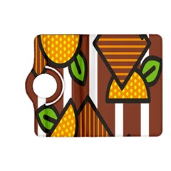 Chocolate Lime Brown Circle Line Plaid Polka Dot Orange Green White Kindle Fire Hd (2013) Flip 360 Case by Mariart