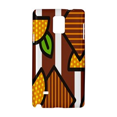 Chocolate Lime Brown Circle Line Plaid Polka Dot Orange Green White Samsung Galaxy Note 4 Hardshell Case by Mariart