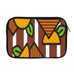Chocolate Lime Brown Circle Line Plaid Polka Dot Orange Green White Apple Macbook Pro 17  Zipper Case by Mariart