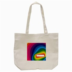 Circle Rainbow Color Hole Rasta Waves Tote Bag (cream) by Mariart