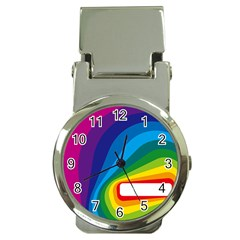 Circle Rainbow Color Hole Rasta Waves Money Clip Watches by Mariart