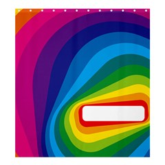 Circle Rainbow Color Hole Rasta Waves Shower Curtain 66  X 72  (large)  by Mariart