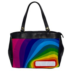 Circle Rainbow Color Hole Rasta Waves Office Handbags by Mariart