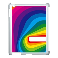 Circle Rainbow Color Hole Rasta Waves Apple Ipad 3/4 Case (white) by Mariart