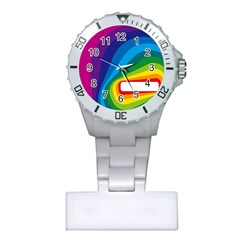 Circle Rainbow Color Hole Rasta Waves Plastic Nurses Watch by Mariart