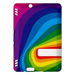 Circle Rainbow Color Hole Rasta Waves Kindle Fire Hdx Hardshell Case by Mariart