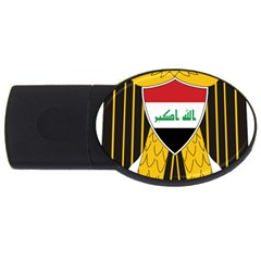 Coat Of Arms Of Iraq  Usb Flash Drive Oval (2 Gb) by abbeyz71