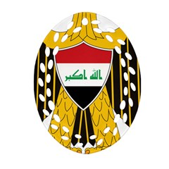 Coat Of Arms Of Iraq  Ornament (oval Filigree) by abbeyz71
