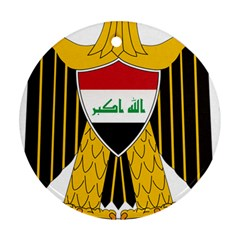 Coat Of Arms Of Iraq  Round Ornament (two Sides) by abbeyz71
