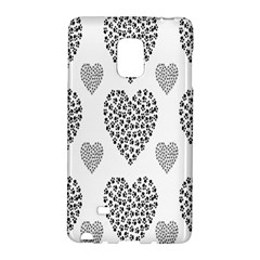 Black Paw Hearts Love Animals Galaxy Note Edge by Mariart
