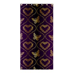 Flower Butterfly Gold Purple Heart Love Shower Curtain 36  X 72  (stall)  by Mariart
