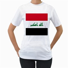 Flag Of Iraq Women s T Shirt (white) (two Sided) by abbeyz71