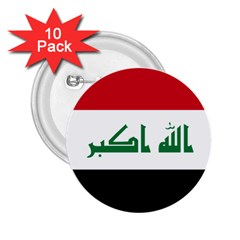 Flag Of Iraq 2 25  Buttons (10 Pack)  by abbeyz71