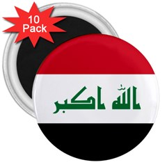 Flag Of Iraq 3  Magnets (10 Pack)  by abbeyz71