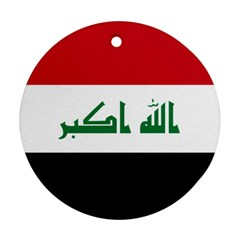 Flag Of Iraq Round Ornament (two Sides) by abbeyz71