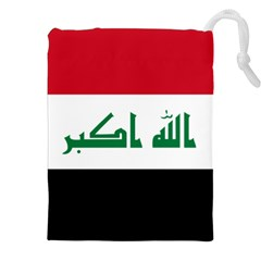 Flag Of Iraq Drawstring Pouches (xxl)