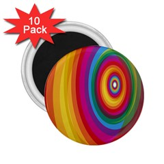 Circle Rainbow Color Hole Rasta 2 25  Magnets (10 Pack)  by Mariart
