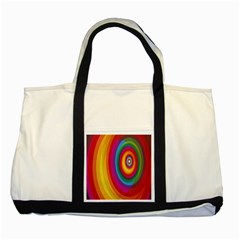 Circle Rainbow Color Hole Rasta Two Tone Tote Bag by Mariart